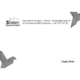 Carte de correspondance Noir et Blanc