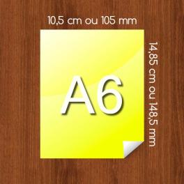 Flyer A6 sur Papier Couleur